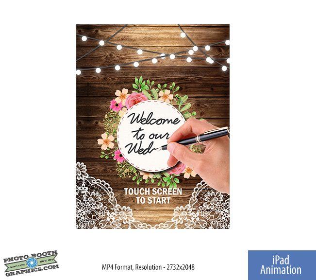 Rustic Wedding: Welcome - Ipad Start Screen