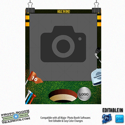 Golf photo booth template